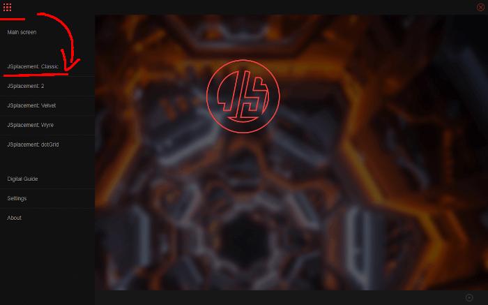JSplacementの起動直後の画面