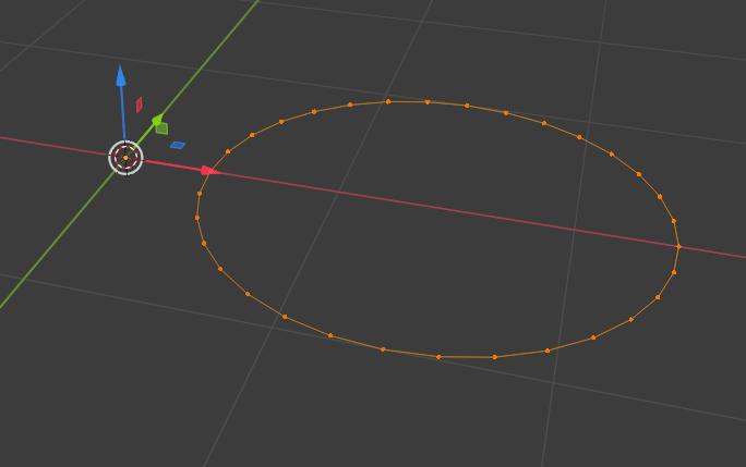 Blenderの円オブジェクト