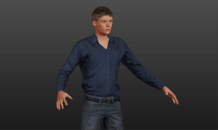 MakeHumanで作成した人体モデル