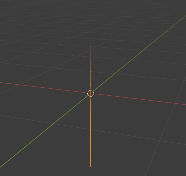 Blenderの直線