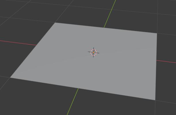 Blenderの平面
