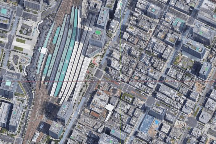 Blenderの無料アドオン【Blender GIS】のbasemapの画像