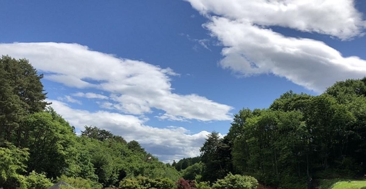 キャンプ場の空