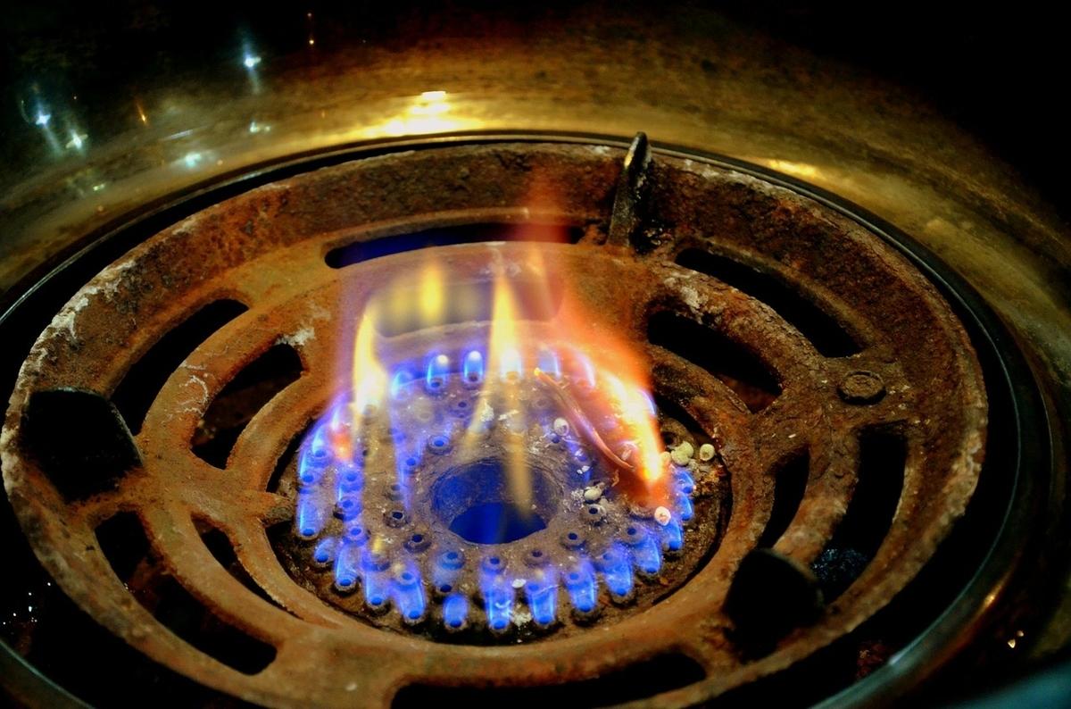 バーナーの火の画像