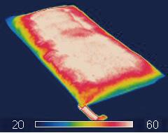 ヒートパンチ 温度イメージ