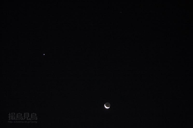 月・金星・スピカの三角形