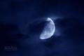 [月景色]moon20080710 雲間を渡る上弦の月