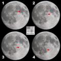 [天体]月面を縦断する黒い影(20080914中秋の名月)