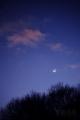 [風景][月景色]大晦日の黄昏(地球照の月と金星)