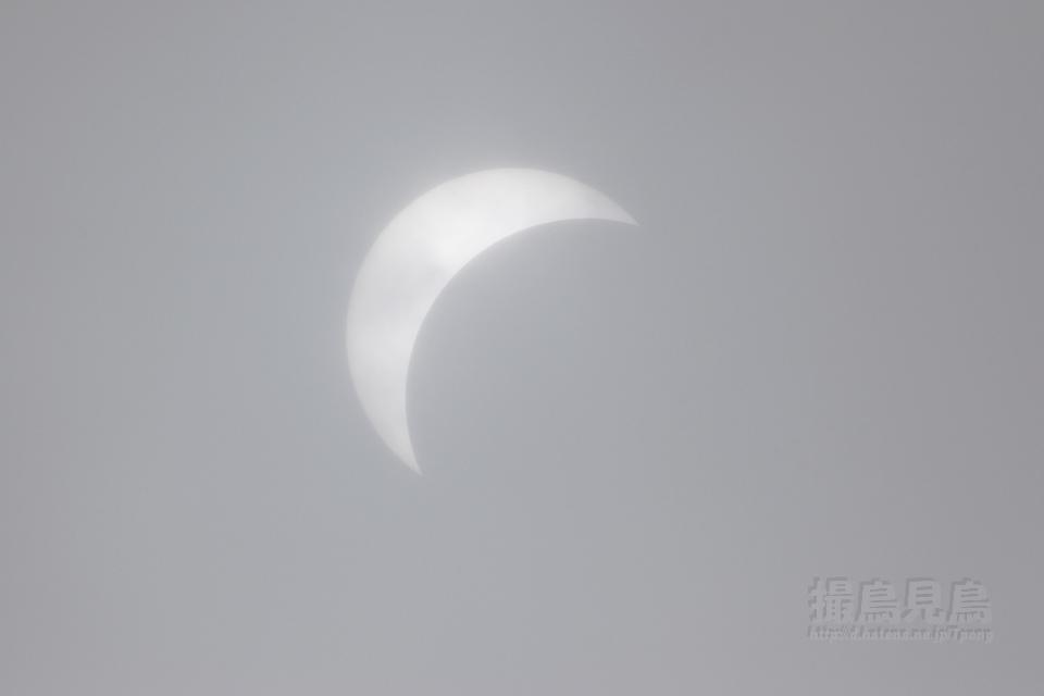 朧な日食(部分日食20090722)