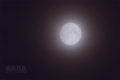 [月景色]薄雲越しの小望月