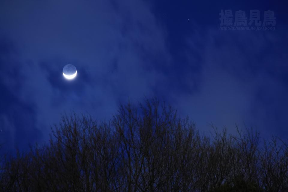 地球照の月景色