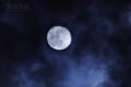 [月景色]雲間の不知夜月
