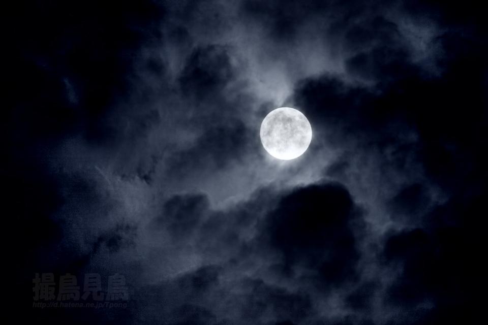 雲間を照らす小望月