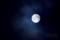 嵐月(嵐に浮かぶ中秋の名月)
