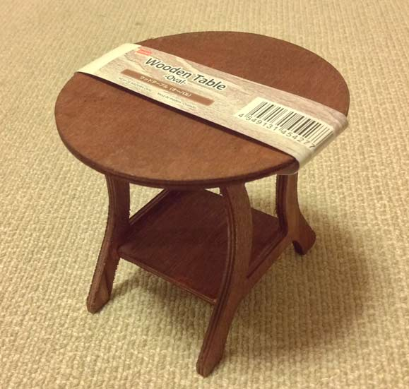 daiso wooden table oval 1
