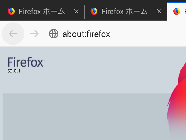 Firefox 59.0.1 。(Android版)