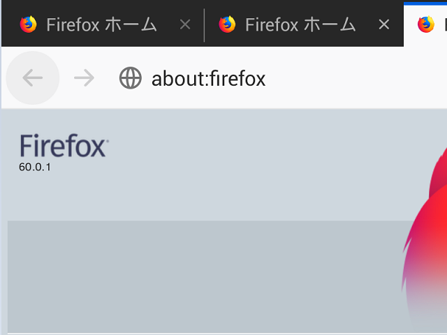 Firefox 60.0.1 。(Android版)