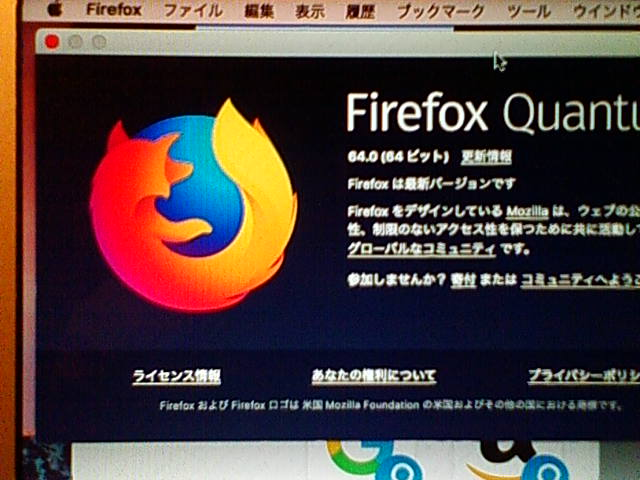 Firefox 64.0 for Mac 。