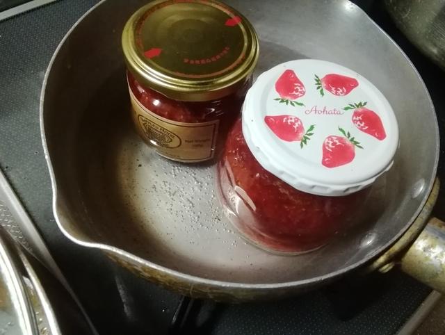 イチゴジャムの仕上げ加熱