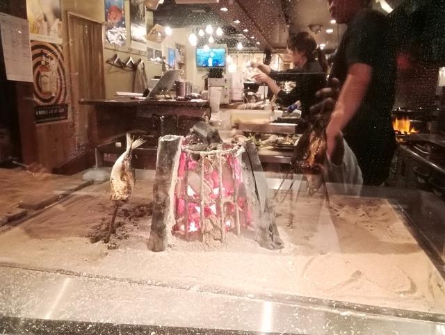 備長炭で焼き魚