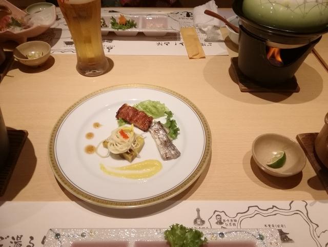 焼き物2種(太刀魚と穴子蒲焼き)