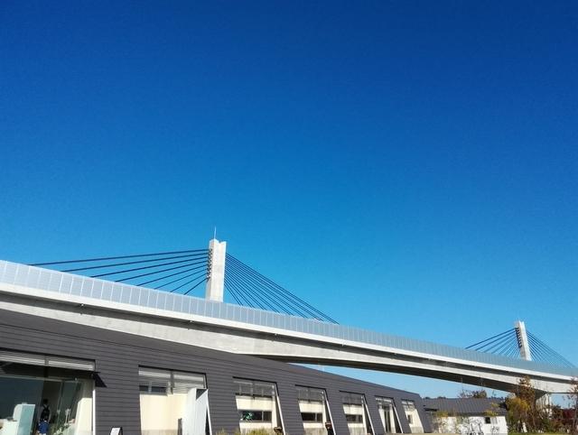 新名神高速道路とアクアイグニス片岡温泉