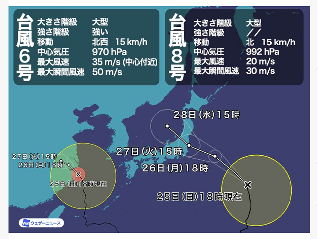 颱風 8号 2021-07-25