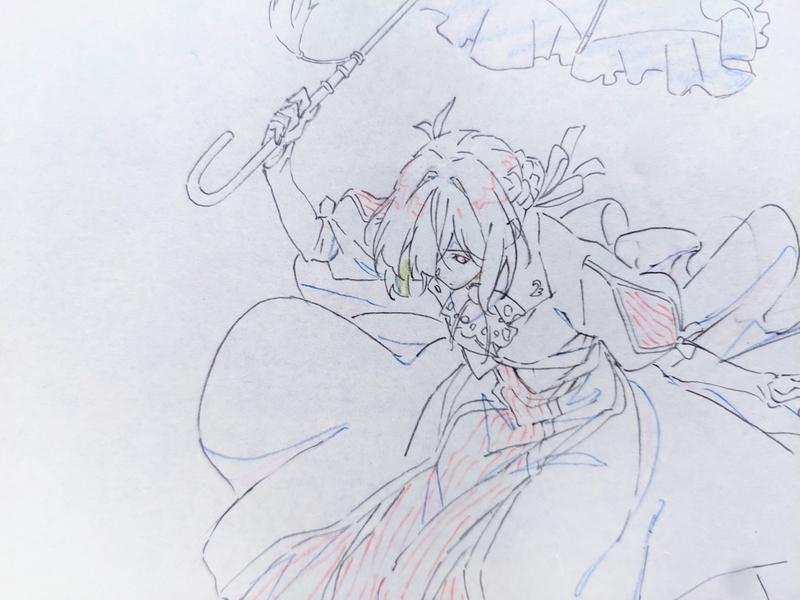 『ヴァイオレット~』より(京アニ原画展にて)