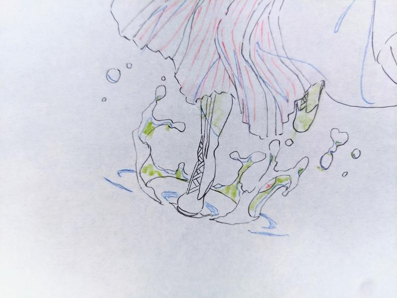 『ヴァイオレット・~』より(京アニ原画展にて)