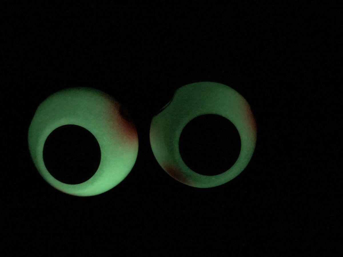 蛍光灯で蓄光