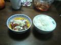 [food]卵キムチ納豆