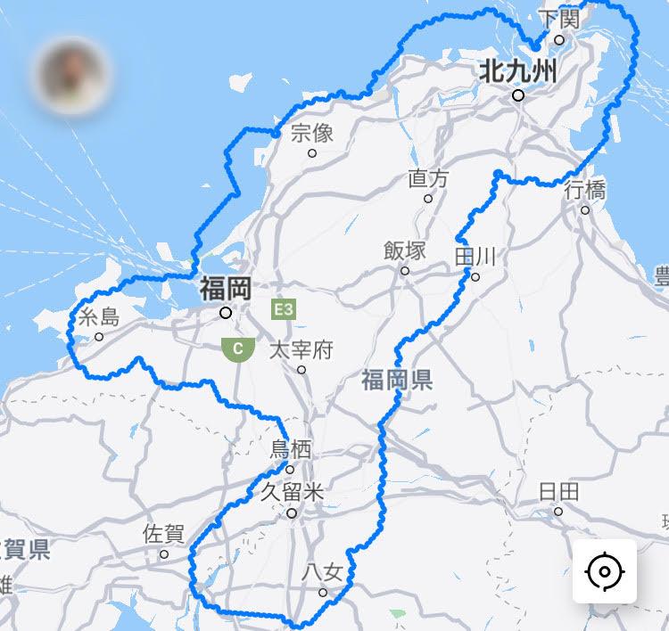 DiDi Foodの福岡の配達可能エリア