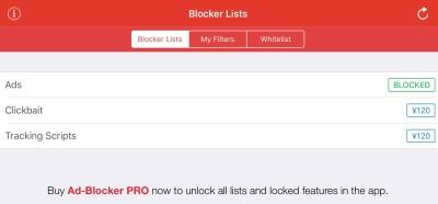 iOS9 広告ブロック非表示無料アプリ Ad-Bloker