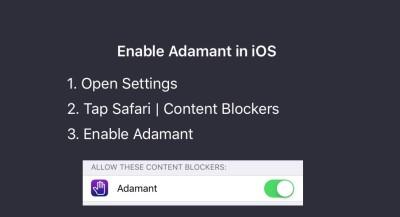 Adamant iOS9 広告ブロック非表示無料アプリ