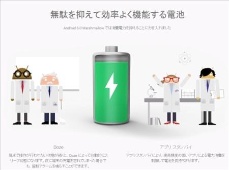 Android 6.0に電池使用量最適化機能Dozeモード