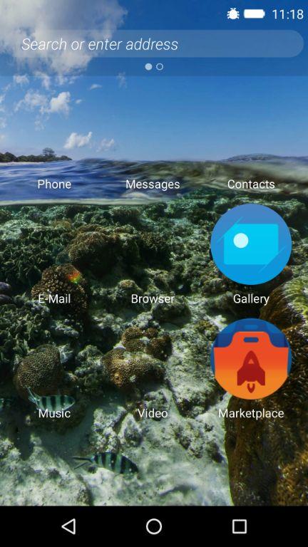 Firefox OSのホーム画面