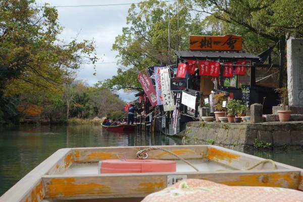 柳川の川下り風景、売店