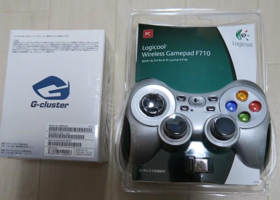 G-clusterとワイヤレスゲームパッド