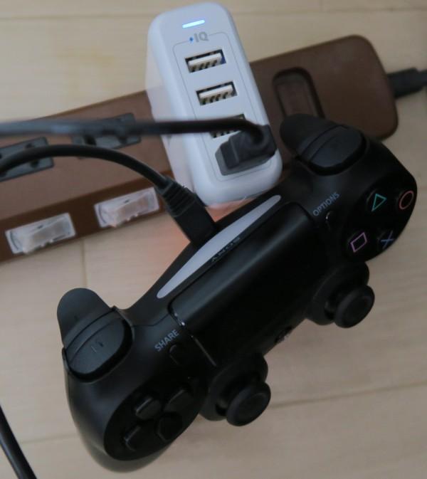 PS4コントローラーの充電が完了した状態