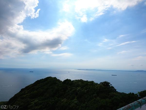 鋸山展望台からの海