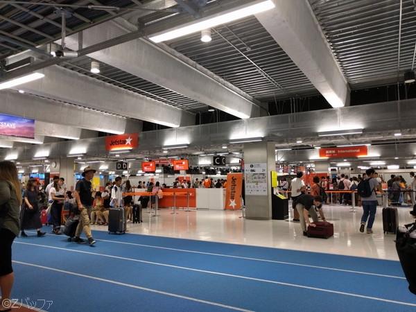 成田空港第三ターミナル ジェットスターチェックインカウンター