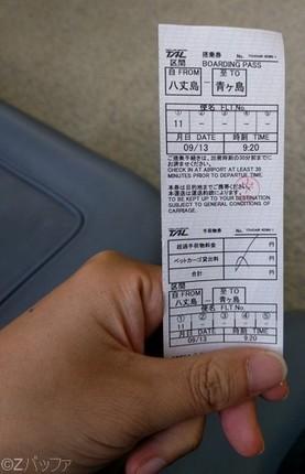 東京愛らんどシャトル搭乗券
