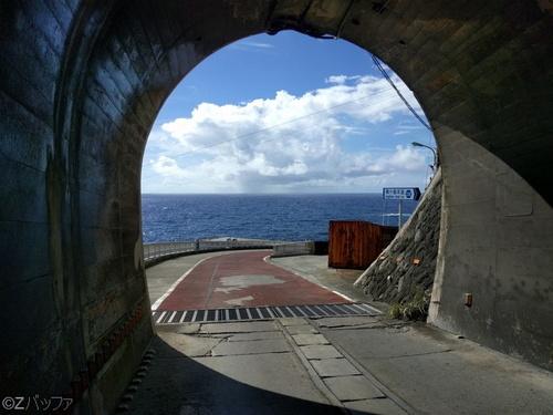 青宝トンネル出口