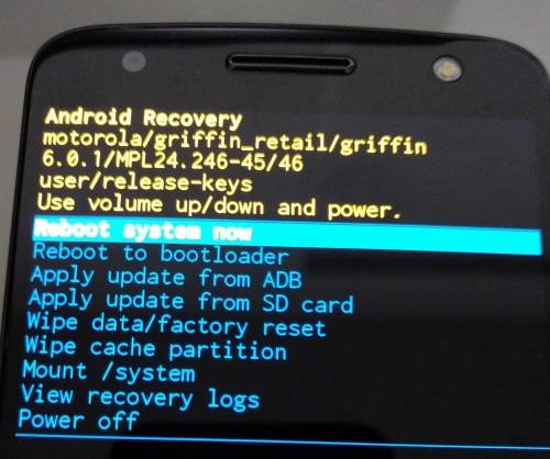Androidの強制初期化完了