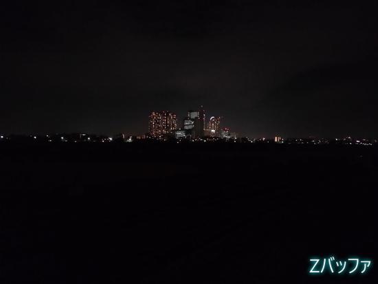 FREETEL KIWAMI 2のカメラで撮影した夜景写真