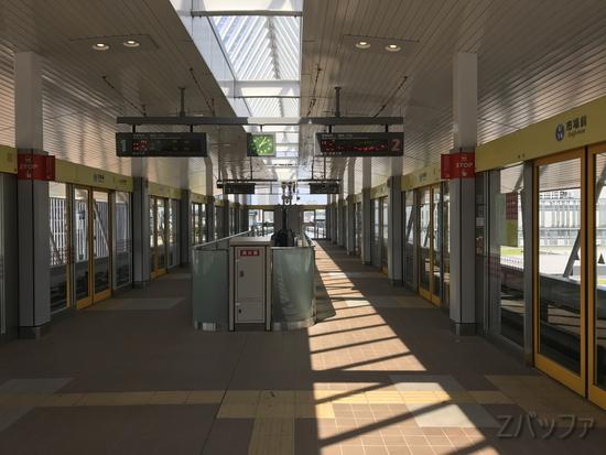 ゆりかもめ「市場前駅」ホームの写真