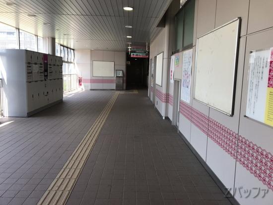 市場前駅構内のコインロッカー
