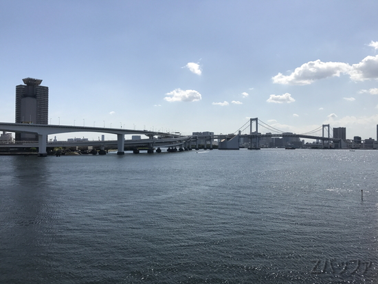 富士見橋からのレインボーブリッジ