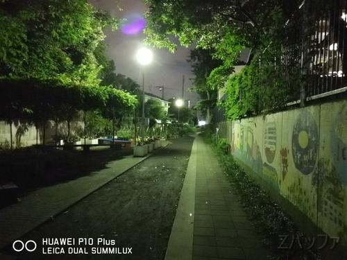 P10プラスの夜景撮影でゴースト発生